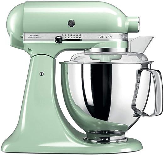 KitchenAid Artisan - Robot de cocina (4,8 L, Verde, palanca, 220 RPM, 1,454 m, AC): Amazon.es: Hogar