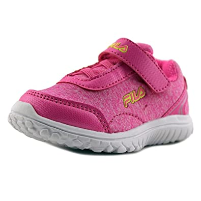 Fila Lite Spring Heather Strap Toddler Round Toe Synthetic Pink Sneakers   B0745F6JK5