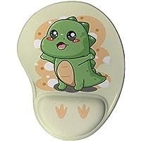 Mouse pad Ergonômico Dinossauro Kawaii Presente Criativo Geek cor:Marrom