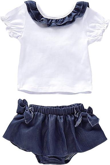 Borlai 0-24M - Camiseta de manga corta con volantes para bebé ...