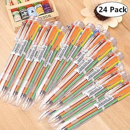 Useful Novelty Cute Cartoon Animals Multicolor Ballpoint Pen Multifunction Colourful 4 In 1 Ball Pen Stationery Creative School Supply Office & School Supplies Ballpoint Pens