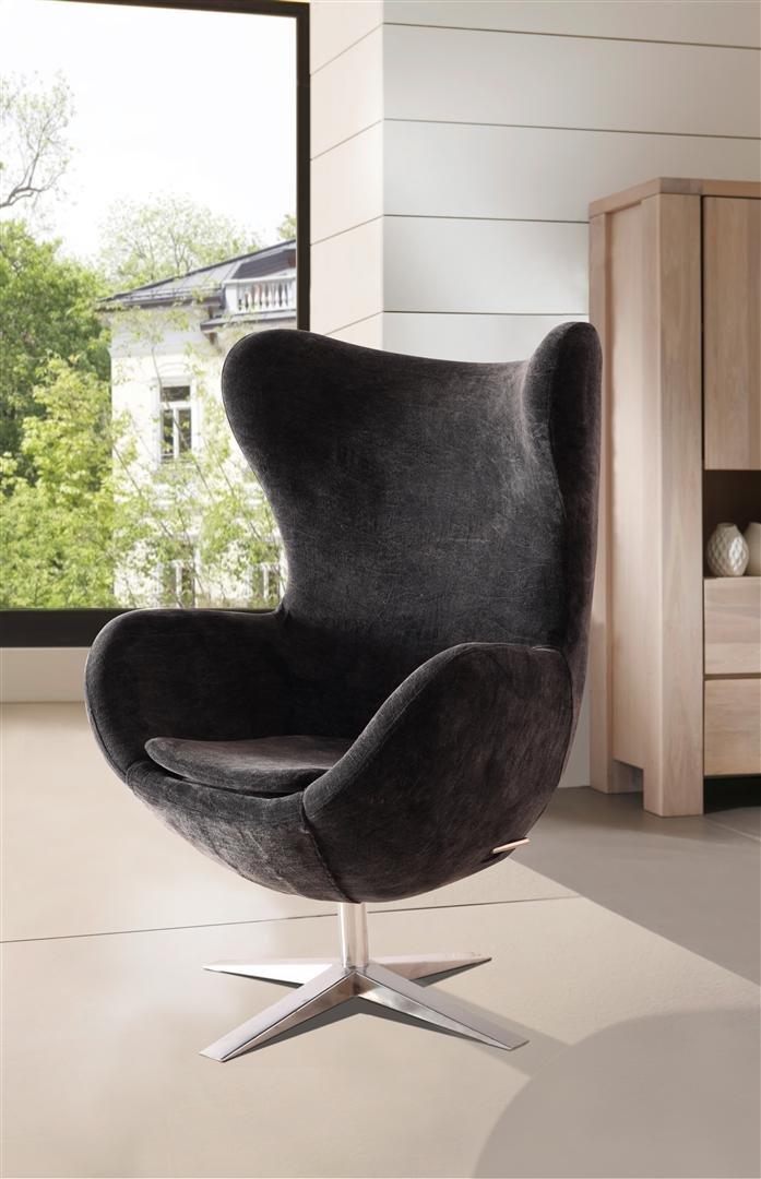 sam design armlehn stuhl 4620 s in schwarz armlehnstuhl in stoff mit f en aus edelstahl. Black Bedroom Furniture Sets. Home Design Ideas