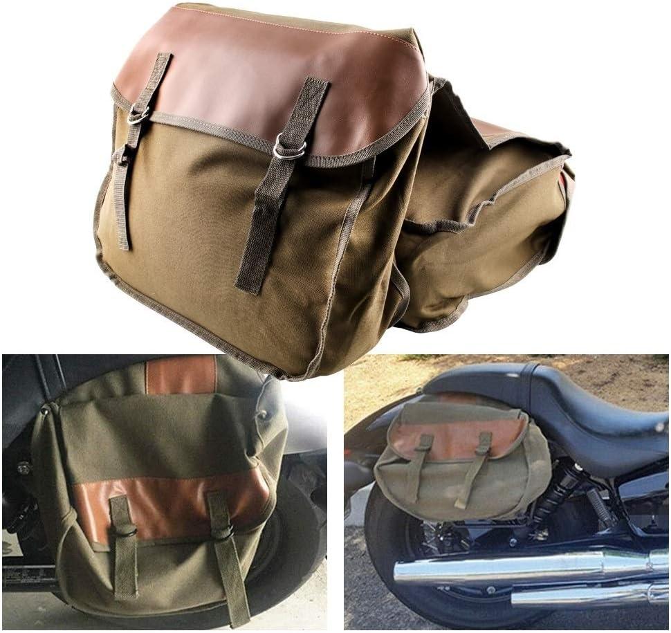 CAR JJ MB-OT298 Accessori Moto laterale modificata del Borsa Cavaliere Bag Kit Box Canvas Colore : Black cachi