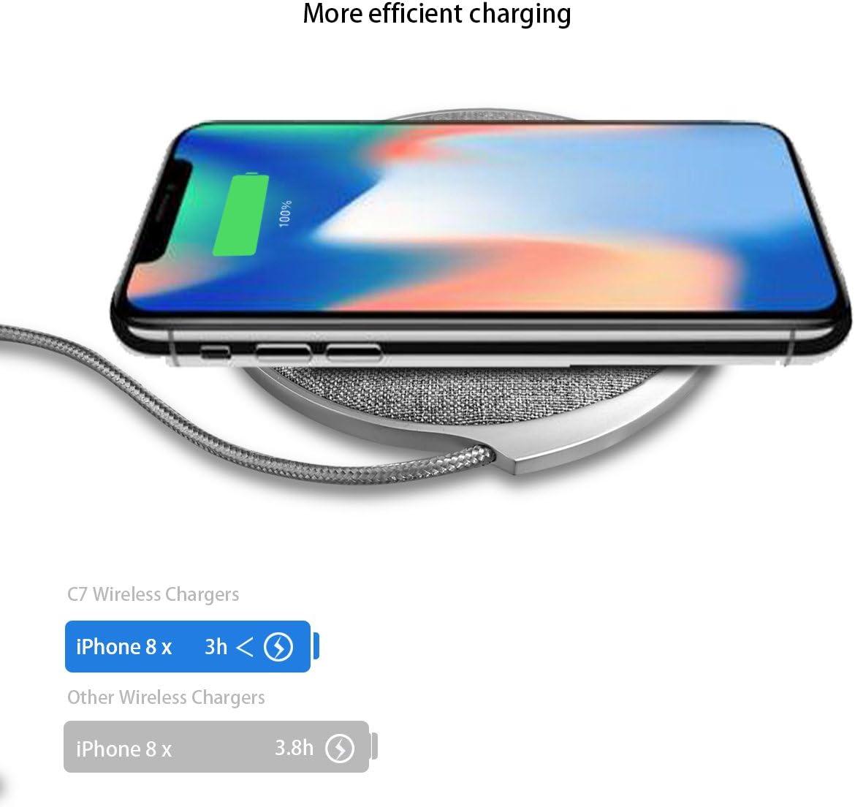 Amazon.com: ampler 10 W cargador inalámbrico Pad Jean tela ...