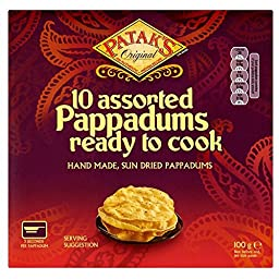 Patak\'s Cook to Eat Assorted Pappadums (10 per pack - 100g) - Pack of 2