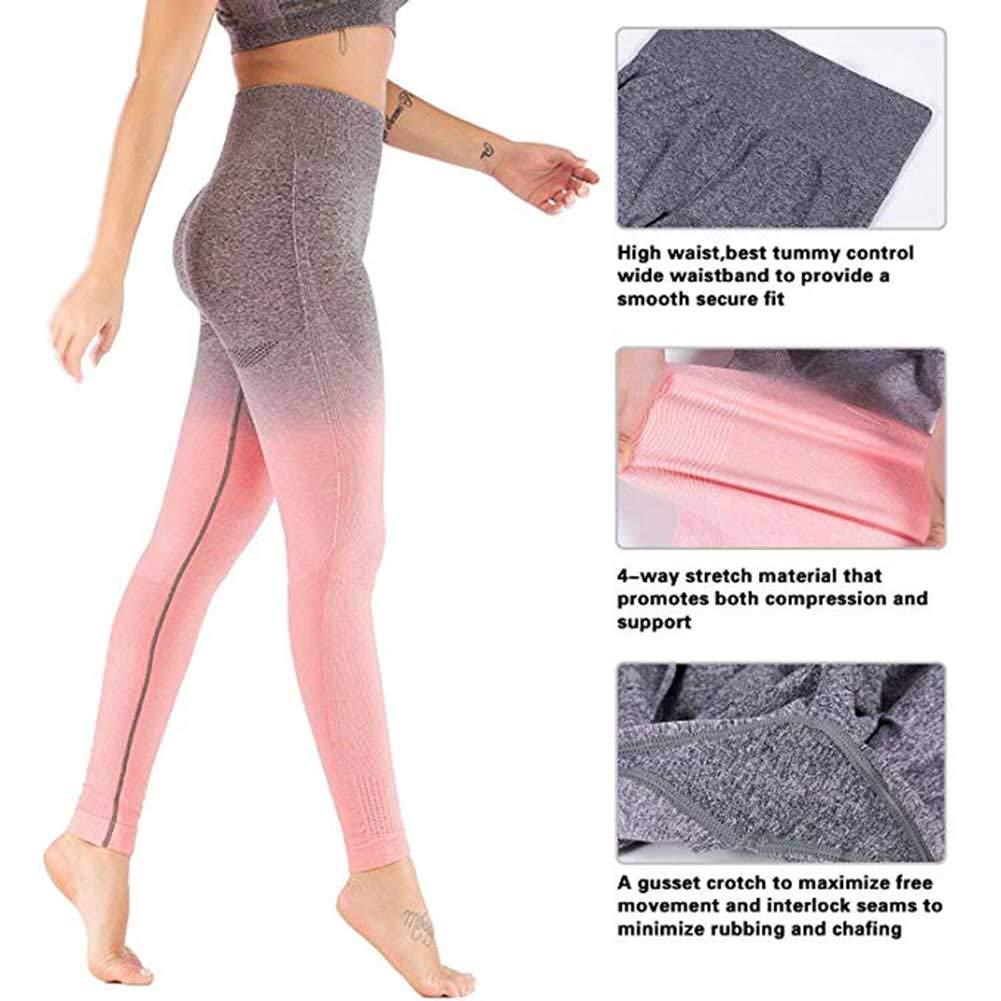 Women/'s High Waist Seamless Leggings Gym Tight Yoga Pants Tummy Control Workout Leggings Fitness Shark
