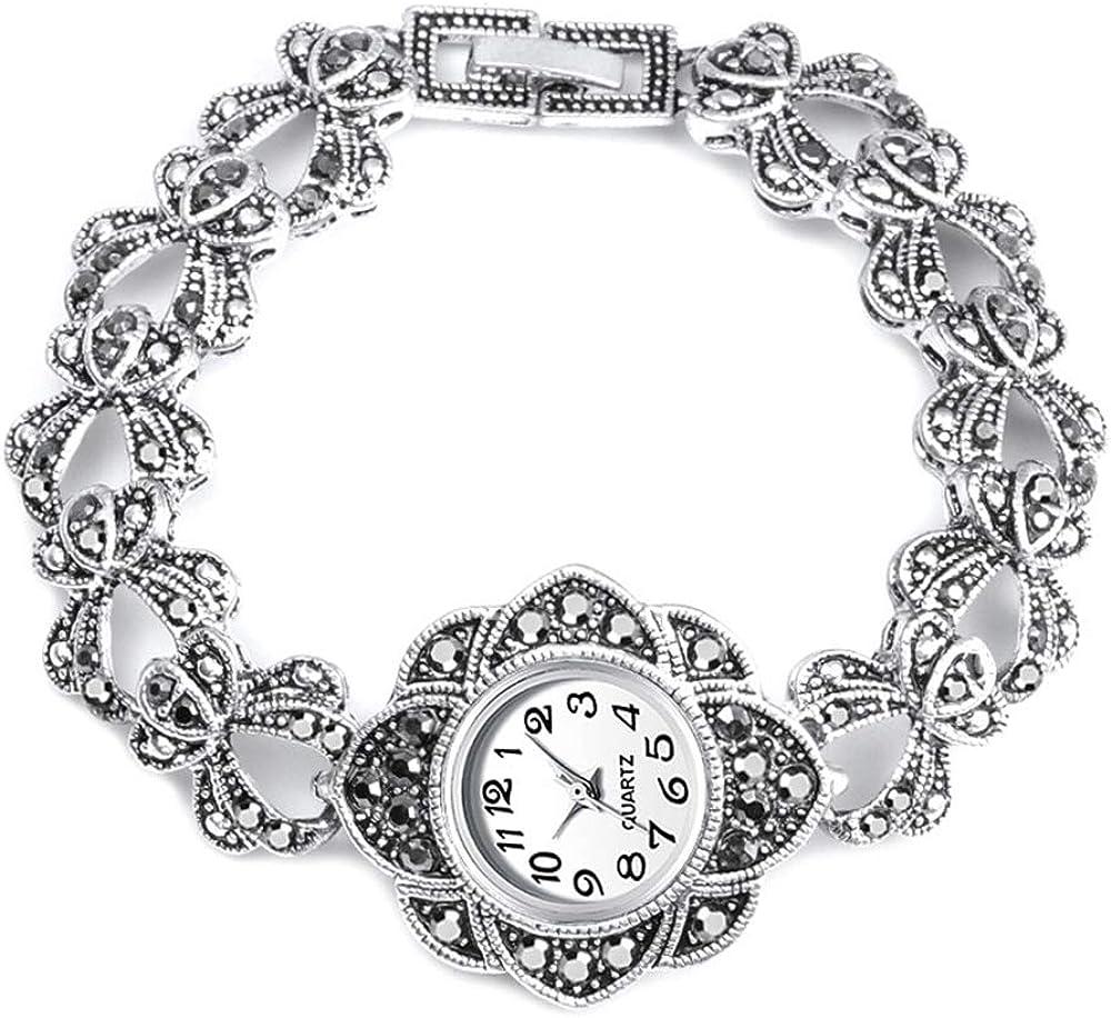 Reloj de Mujer Reloj Mujer Reloj de Pulsera de Plata Antiguo Pulsera de Diamantes de imitación turca para Mujer Joyería de Boda Vintage 2020 Nuevo