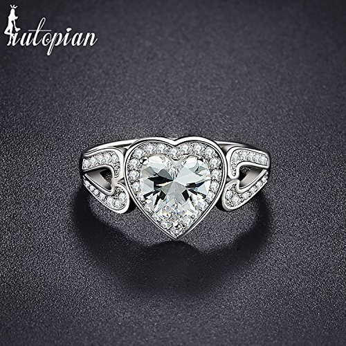 BB-Ring Brand Bridal Wedding Rin Anels With CZ For Girlfriend Size 6-9 - Anel Six