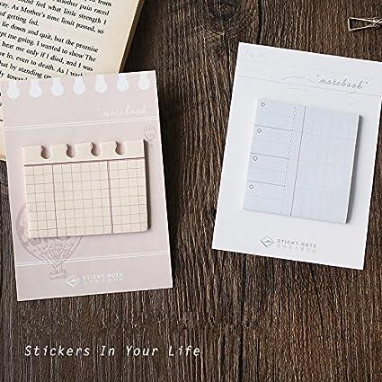 4 unids Mini cuaderno nota adhesiva Diario pegatina ...