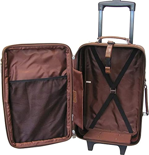 Amerileather Black Leather 2-piece Luggage Set 8002-0