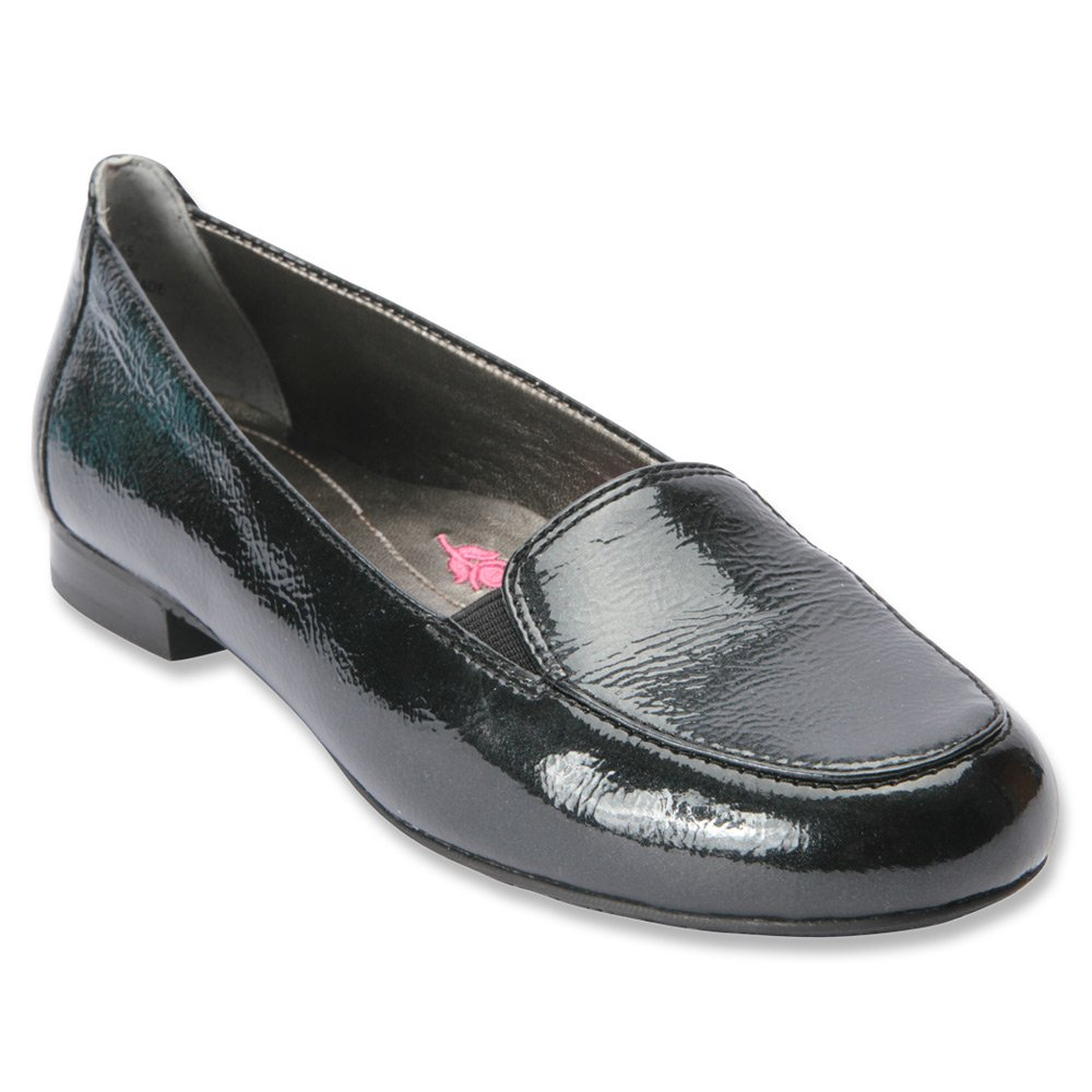 Ros Hommerson Regan Women W Round Toe Leather Loafer B012OGN87Y 6.5 3A US|Black Patent