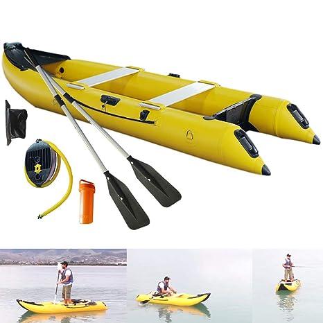 SAYOK - Barco Inflable de PVC para Kayak o Pesca, para 2 ...