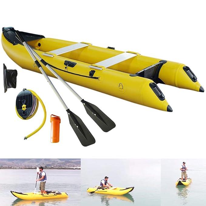 Amazon.com: Sayok - Barco de pesca de kayak inflable de PVC ...