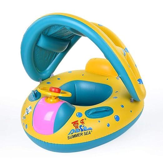 Sombrilla de piscina flotador barco entrenador asiento grueso ...