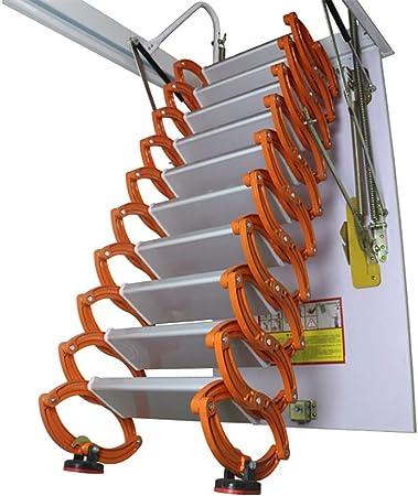 Escalera de extensión Plegable para Interior de casa, con Escalera telescópica para Escalera (aleación de Aluminio y magnesio, 70 cm de Ancho): Amazon.es: Hogar