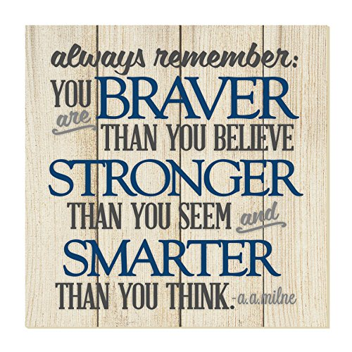 MRC Wood Products Always Remember You are Braver Thank You Think Wall Sign 12x12 ()