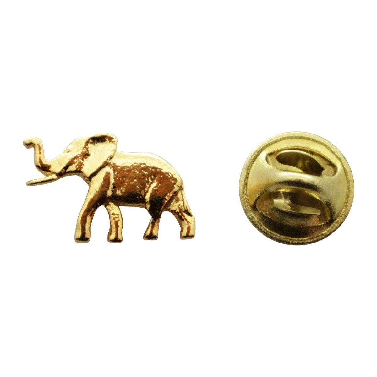 Elephant Mini Pin ~ 24K Gold ~ Miniature Lapel Pin ~ Sarah's Treats & Treasures G.G. Harris STT-M490-G-MP