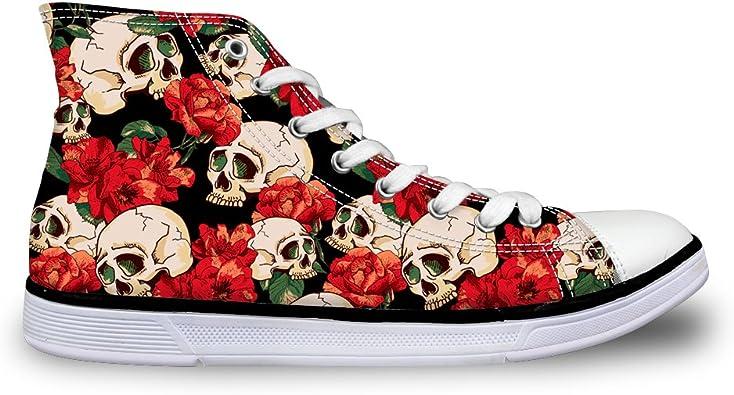 chaussures tête de mort homme femme 12