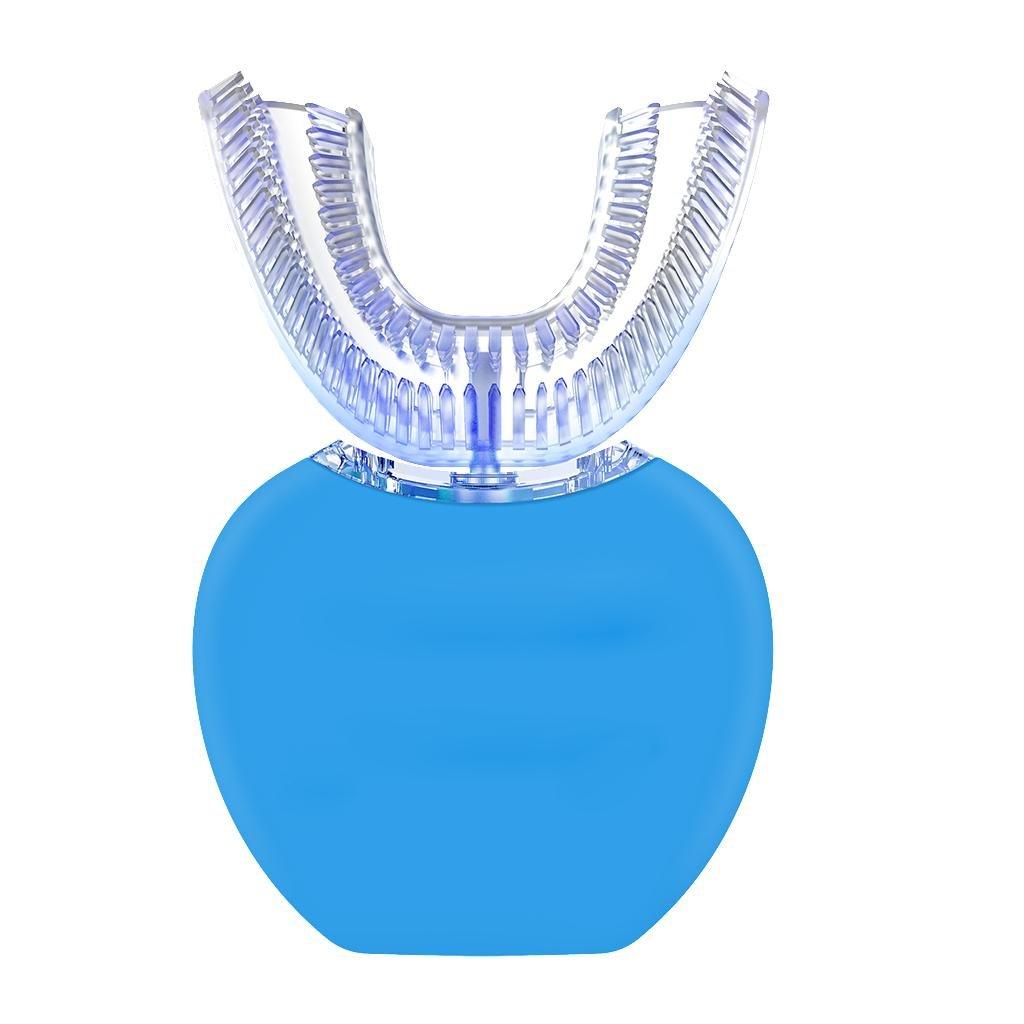 自動電動歯ブラシ、怠惰な人向けに設計されたNatood 360度自動歯ブラシ、ブルーレイホワイトニング機能とマッサージ機能付き , blue B07BHF9NVJ