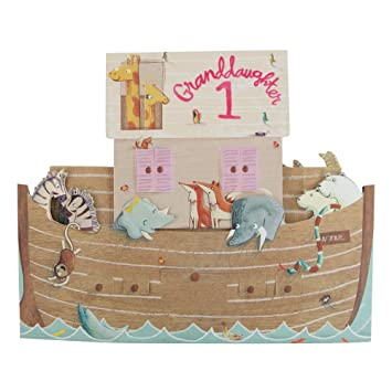 Hallmark First Birthday Card For Granddaughter Pop Up Boat Large