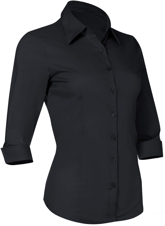 27fe77754 Womens Black Shirts Collar - DREAMWORKS