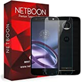Moto Z Play Tempered Glass - NETBOON® Original Tempered Glass HD Clarity Premium Quality Screen Protector, 9H Hardness, Ultra thin, Anti-Scratch Branded Screen Protector Gorilla Glass Guard for Motorola Moto Z Play