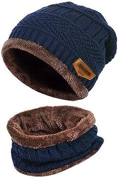 Gorro Invierno con Bufanda, Calentar Sombreros Gorras Beanie de ...