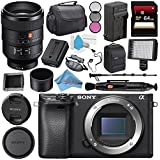 Sony Alpha a6300 Mirrorless Digital Camera (Black) ILCE6300/B + Sony FE 100mm f/2.8 STF GM OSS Lens SEL100F28GM + NP-FW50 Replacement Lithium Ion Battery + External Rapid Charger Bundle