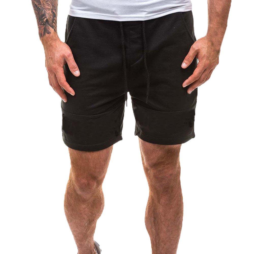 Kstare Bodybuilding Shorts for Men Sporting Beaching Trousers Bodybuilding Sweatpants Short Jogger Gyms Bathing Suits Black