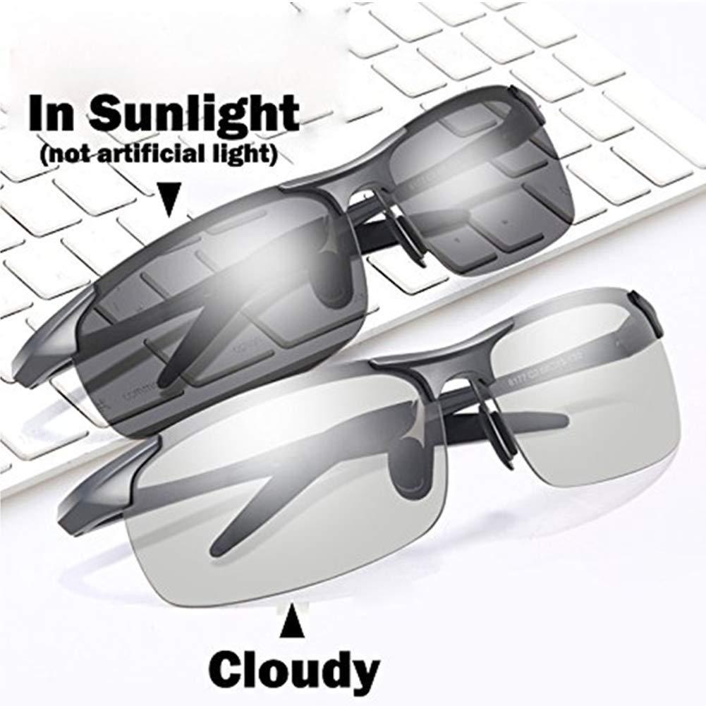 Sunglasses for Men Women Polarized Driving Chameleon Glasses Day Night Vision Driving Eyewear Outdoor Sport Sunglasses