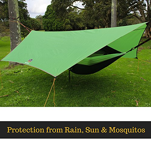goroam outdoors camping hammock with mosquito   and rainfly  hex rain fly waterproof camping tarp  u0026 tent shelter  pro grade micro hex ripstop includes     goroam outdoors camping hammock with mosquito   and rainfly  hex      rh   bestcampkitchen