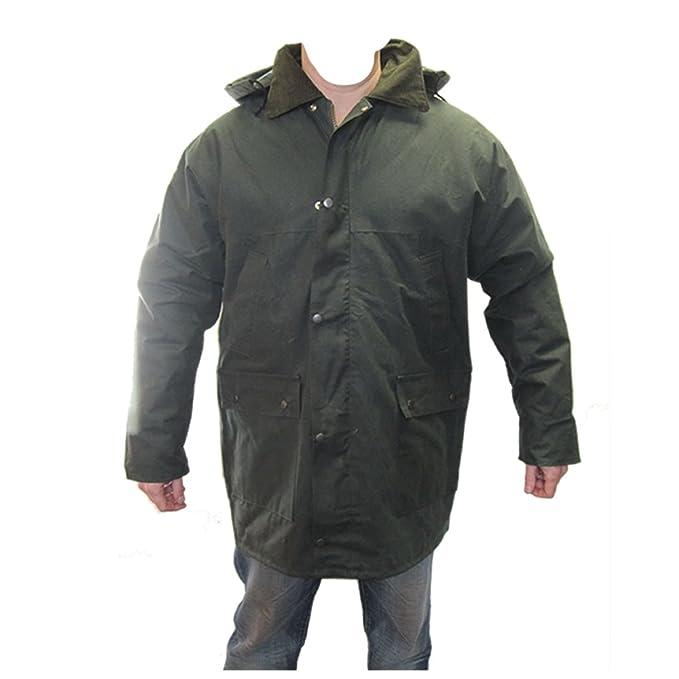 Armyandworkwear Hombre Verde Cera Acolchado Equitación, Caza, Chaqueta de Pesca 3 X L: Amazon.es: Ropa y accesorios