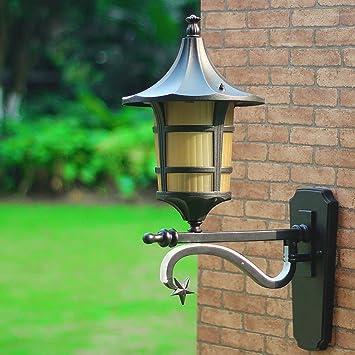 Mkjbd Linterna de Pared Lámpara de Jardín Lámpara de Pared Lámpara de Pared Solar Lámpara de