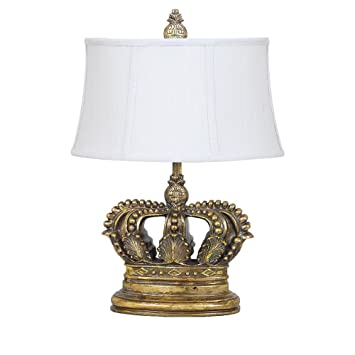 Charming Crestview Collection Crown Resin Table Lamp