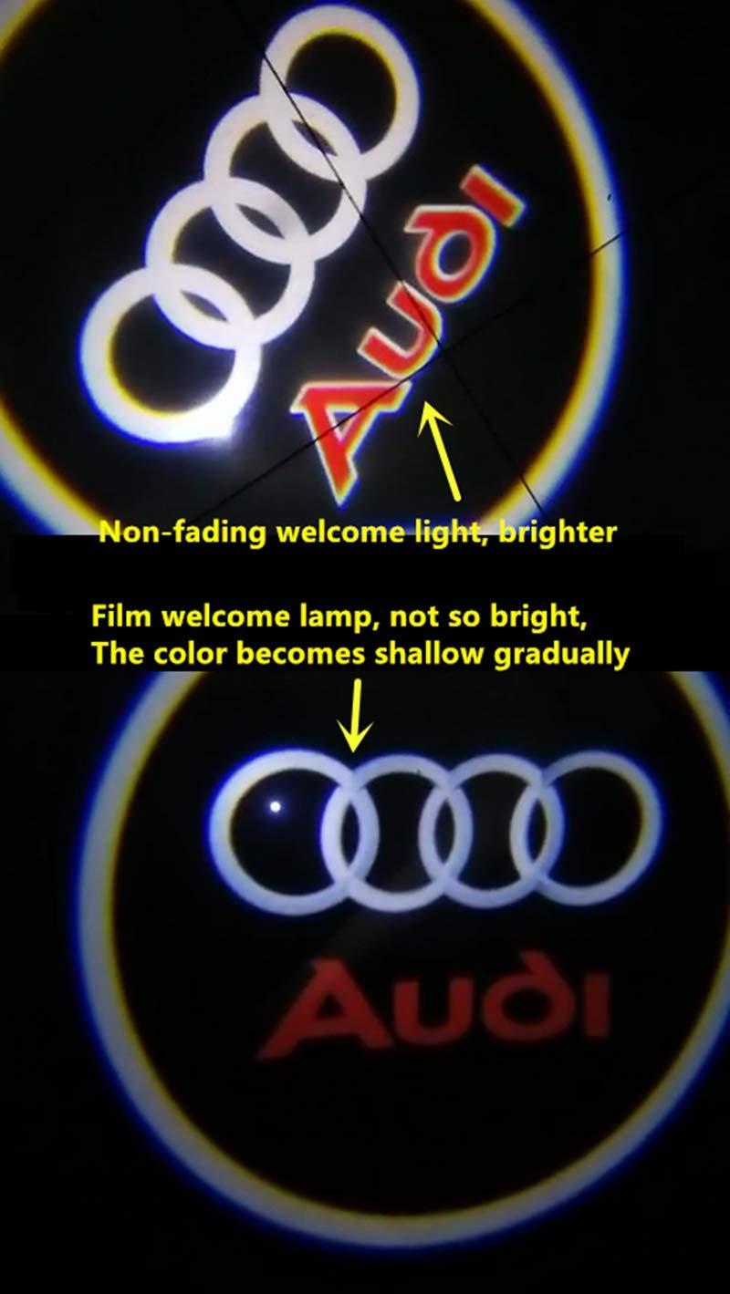 KVCH Paquete de 2 LED L/ámpara de cortes/ía 3D Vidrio sin atenuaci/ón s/úper Logotipo de proyector l/áser de puerta de auto brillante Fantasmas luces de sombra L/ámpara de Bienvenida