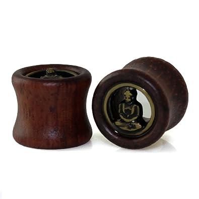"""1/2"""" (12.7mm) Tapones de madera orgánica Buda hueco Expander"""