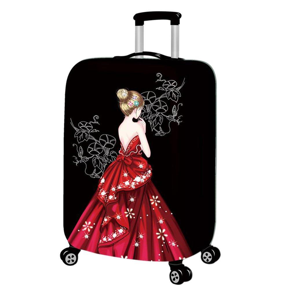 Hzjundasi Lavable Beau Fille Élastique Antipoussière Valise Baggage Couverture Bagage Protecteur 18-32