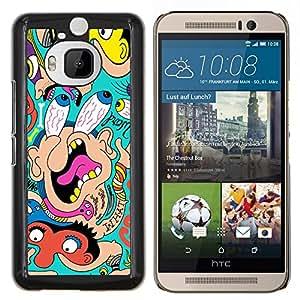 "Be-Star Único Patrón Plástico Duro Fundas Cover Cubre Hard Case Cover Para HTC One M9+ / M9 Plus (Not M9) ( Grandes Ojos Cara Retrato Comic Cartoon Wallpaper"" )"