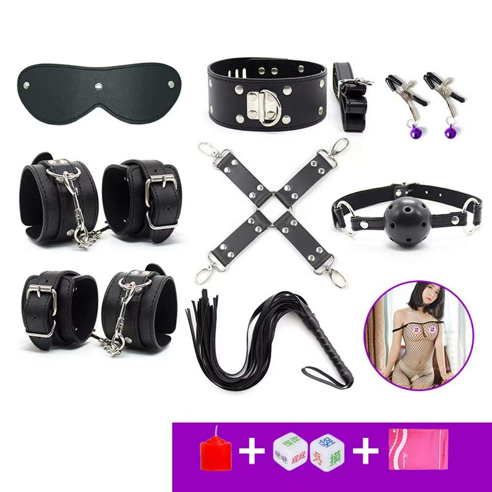 Alternative Bundle Skills Collar Chain Handcuffs Ankles Main Slave Adult Training Tools Orgasm by QF sexy leather store