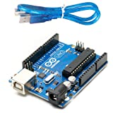 Generic Uno R3 ATmega328P with USB Cable length 1 feet, Compatible with ATMEGA16U2 Arduino (Color may vary)
