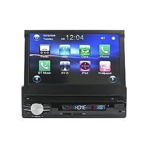 Lexxson 7Inches Single Din Touchscreen Wireless MP3/MP4/USB/SD AM/FM Car Stereo, 7 Inch Digital LCD Monitor Detachable Front Panel Wireless Remote CW0013
