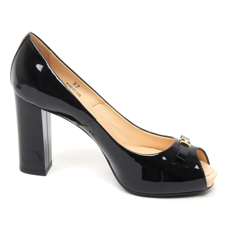 B4691 decollete donna HOGAN H204 scarpa nera spuntata shoe woman ...