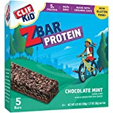 CLIF KID ZBAR – Protein Snack Bar – Chocolate Mint (1.27 Ounce Gluten Free Bar, 5 count)