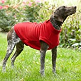 Zip-back Fleece Vest / Large 23″, Dogs 40-60 Lbs., Red, Large, My Pet Supplies