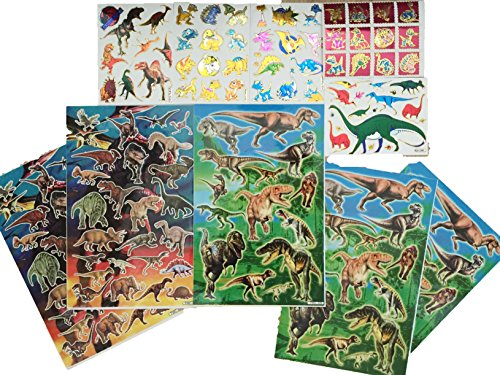 [9Snail Dinosaurs Stickers Assorted 10 Sheets, birthday party kids favors] (Raptor Costume Jurassic Park)