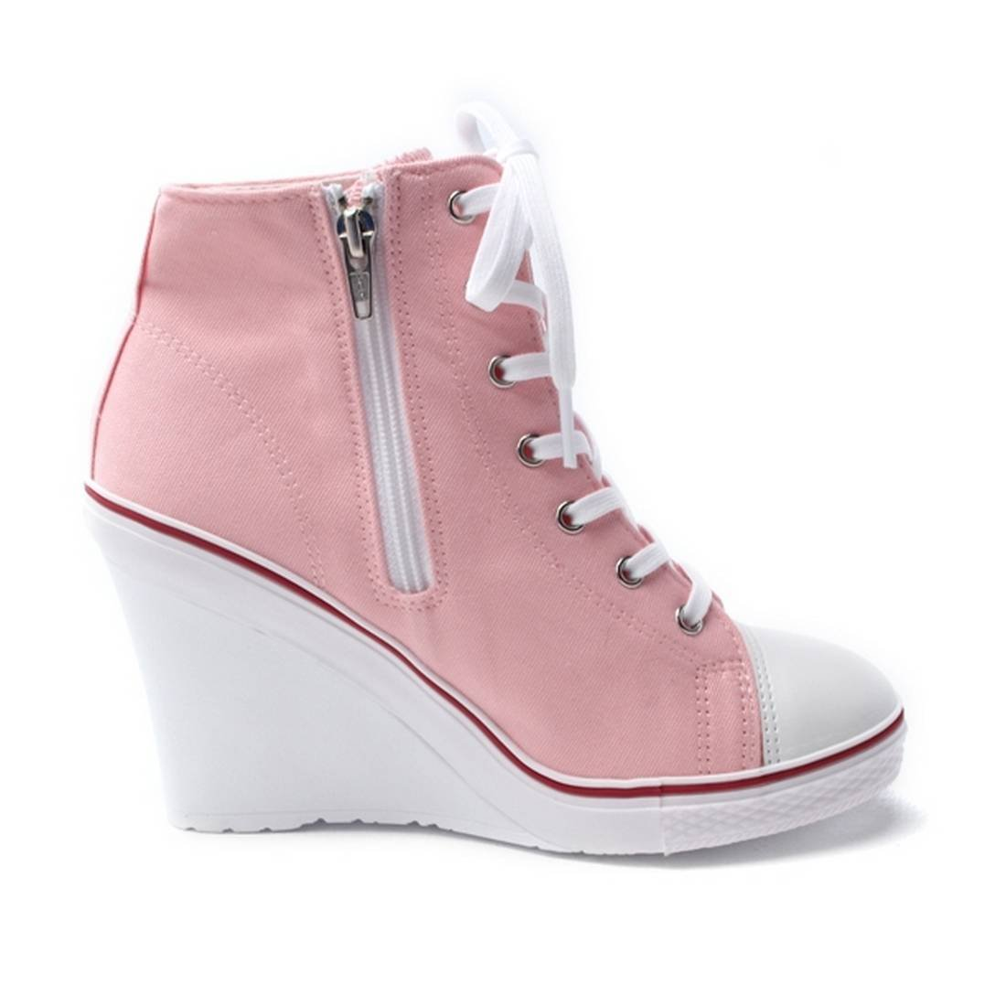 c52500e36b0 ... EpicStep EpicStep EpicStep Women s Canvas High Top Wedges High Heels  Casual Fashion Sneakers B00XTVK3J0 8 B ...