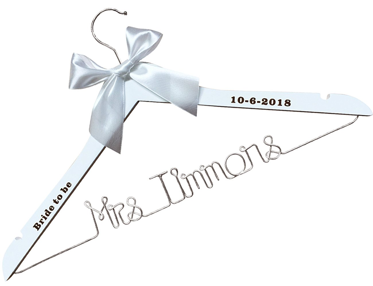 Custom Bridal Hanger-Wededing,Bridal Hanger one line, Brides Hanger Bride Name Hanger Wedding Hanger Personalized Bridal Gift-Custom it etnecklace