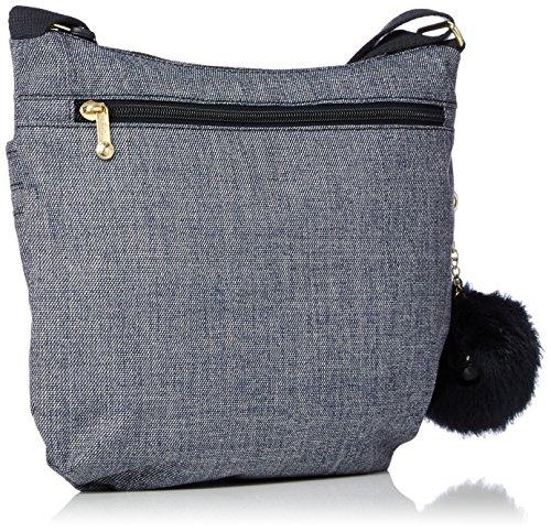 cm H L Cotton Kipling x x Azul para Bolso Arto W 15x24x45 Bandolera Mujer Jeans zzZYPA