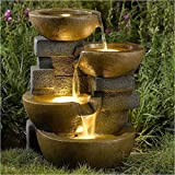 Bowery Hill Water Fountain with Led Light For Sale