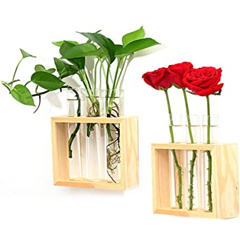 Amazon Wood Meets Color Table Vase Set Home Decor Display With